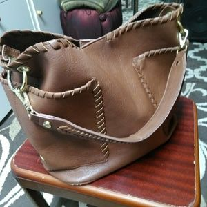 Steve Madden leather bucket bag